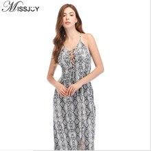 4d112f1b2e8efd MISSJOY New Snake Print Dress Robe Bandage Women Fashion Leopard Strapless  Spaghetti Strap Split Vestidos Robe