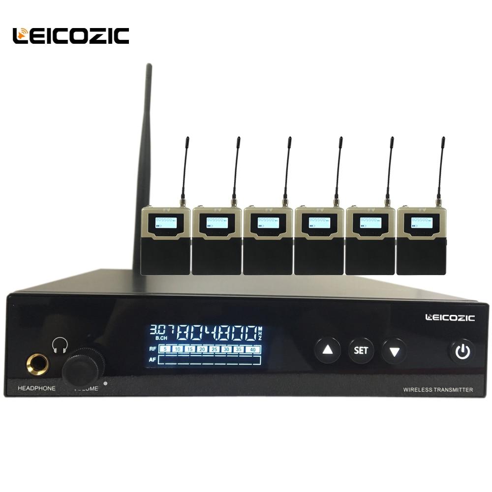 Leicozic New arrival L560 iem com 6 receptores de Fone de ouvido do monitor Profissional Pessoal Sistema de Monitor Sem Fio monitores de palco