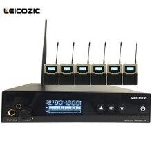 Leicozic Новое поступление профессиональный монитор уха L560 iem с 6 приемниками в ухо персональный монитор Беспроводная система сценические мониторы