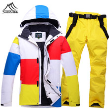 2016 new men's ski suits winter outdoor warm jackt+pants Waterproof windproof breathable Thicken Thermal Snowboard sets