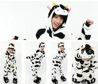 Hot Unisex Animal Sleepwears Party Dairy Cow Hooded Pyjama Suit For Adults S XL Pikachu Stitch
