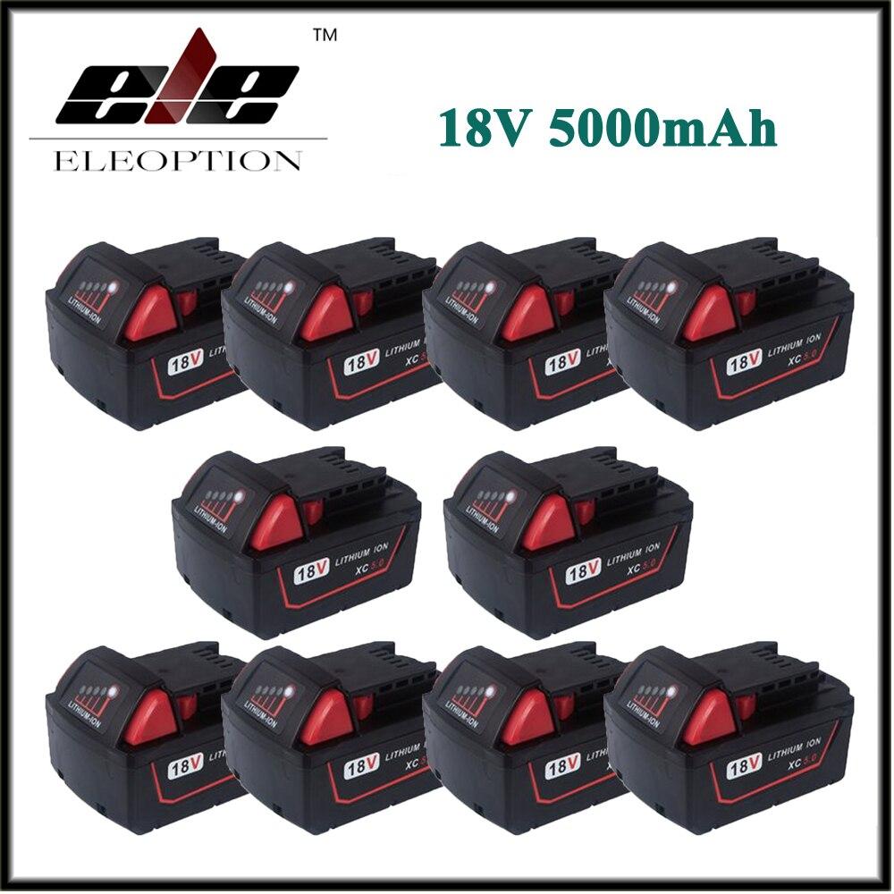 все цены на 10x Wholesale 5000mAh 18V Li-Ion Replacement Power Tool Battery for Milwaukee XC 48-11-1815