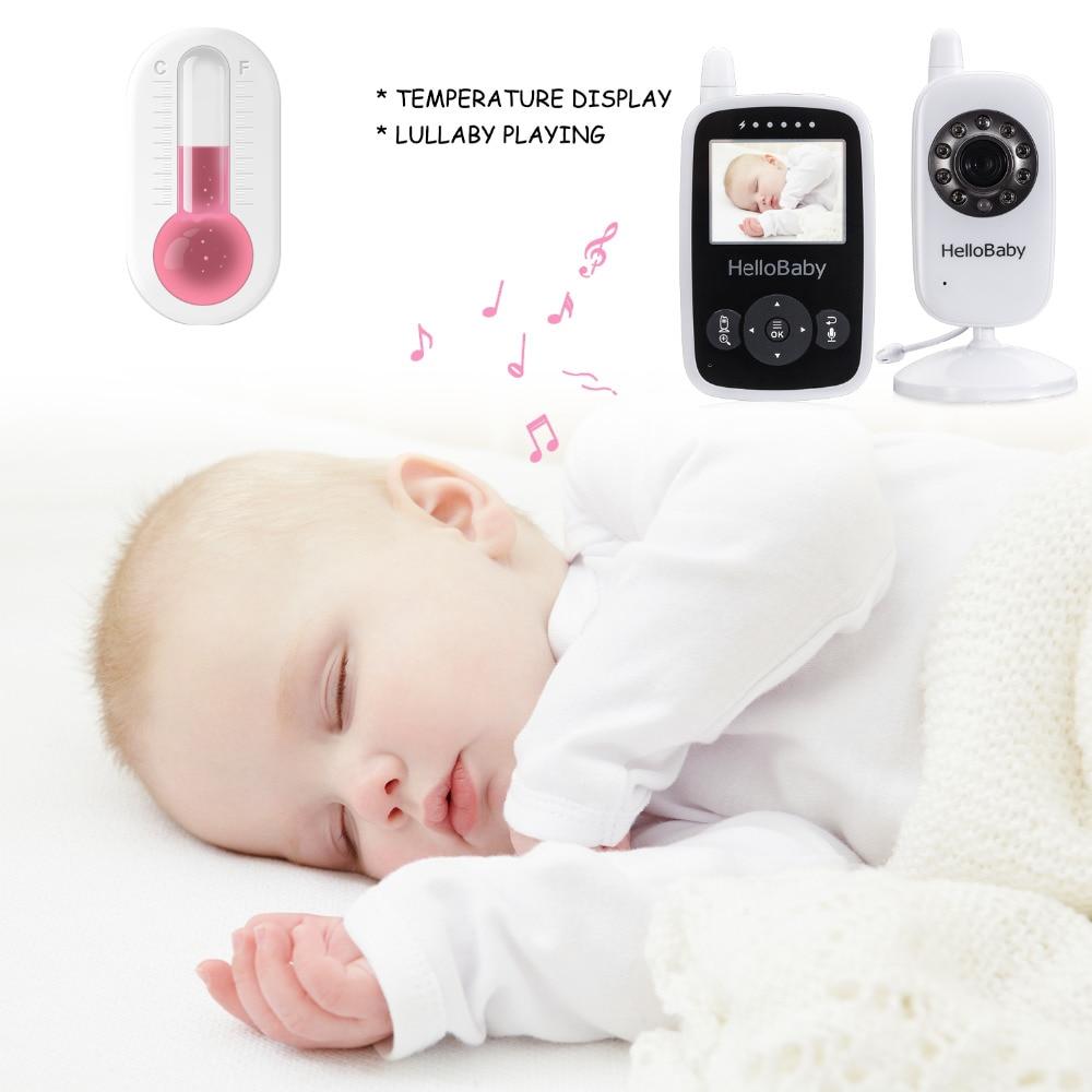 Hello Baby Wireless Video Baby Monitor with Digital Camera HB24, Night Vision Temperature Monitoring & 2 Way Talkback System