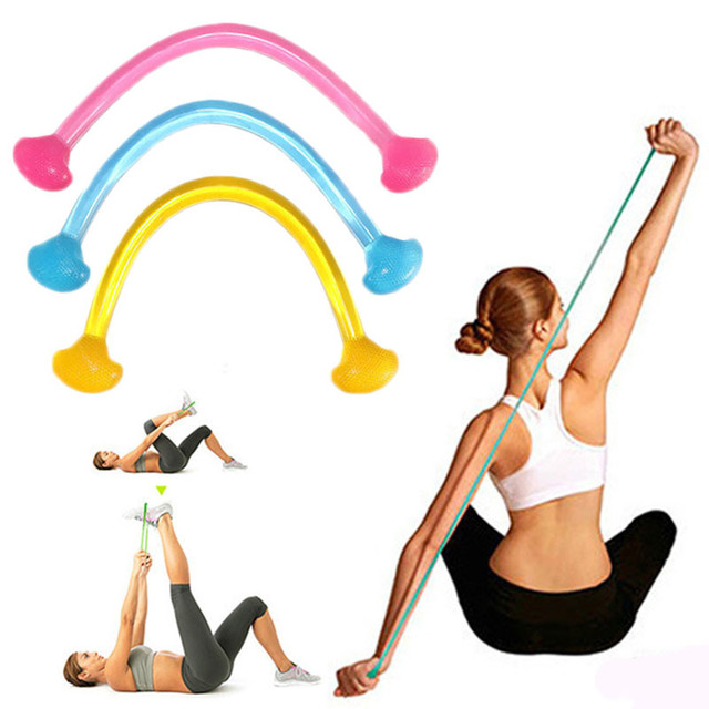 Banda de resistencia de yoga de silicona colorida