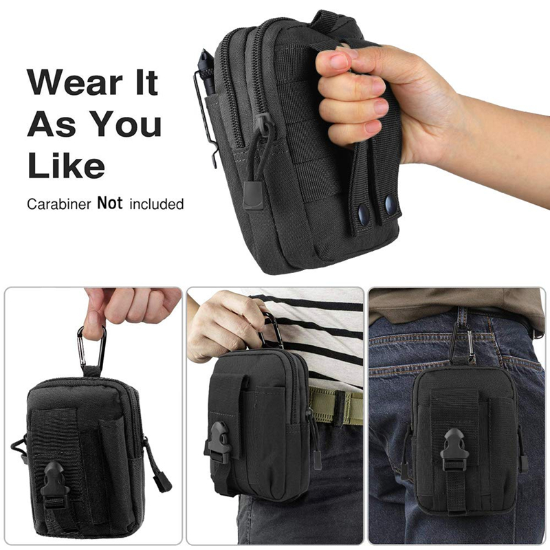 Tactical Molle Pouch Waist Bag Waterproof Nylon Multifunction Casual Men EDC Tool Bag Small Bag Mobile Phone Case Hunting Bag