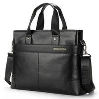 New Fashion For macbook unique of 14 inch leather business men's briefcases men's singles shoulder bag cow leather Laptop Bags