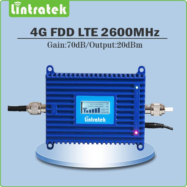 4G LTE Ganancia 70dB 4G LTE 2600 Mhz Móvil Repetidor de Señal amplificador de señal de teléfono celular Amplificador de señal 2600 lte con lcd pantalla