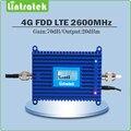 4G LTE Repetidor De Sinal 70dB Ganho 4G LTE 2600 Mhz Móvel Reforço de sinal 2600 lte telefone celular amplificador de sinal com lcd exibição