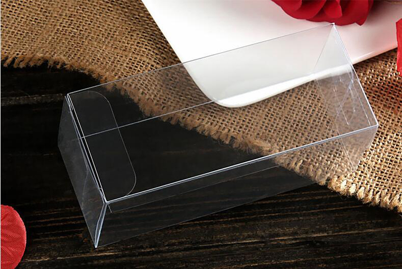 200pcs 5x5x25 Jewelry Gift Box Clear Boxes Plastic Box Transparent Storage Pvc Box Packaging Display Pvc Boxen For Wed/christmas