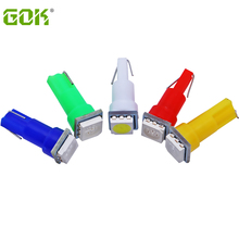 10 x T5 светодиодный 5050smd светодиодный t5 лампочка с клиновидной основой для приборных панелей светодиодный t5 5050 smd 12 в белый/зеленый/синий/красный/желтый