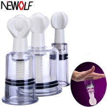 New Sex Toys 3Pcs Nipple Clamps Adult Games Nipple Pussy Clitoris Sucker Pump Stimulator Massager Sex Products for Women PY561