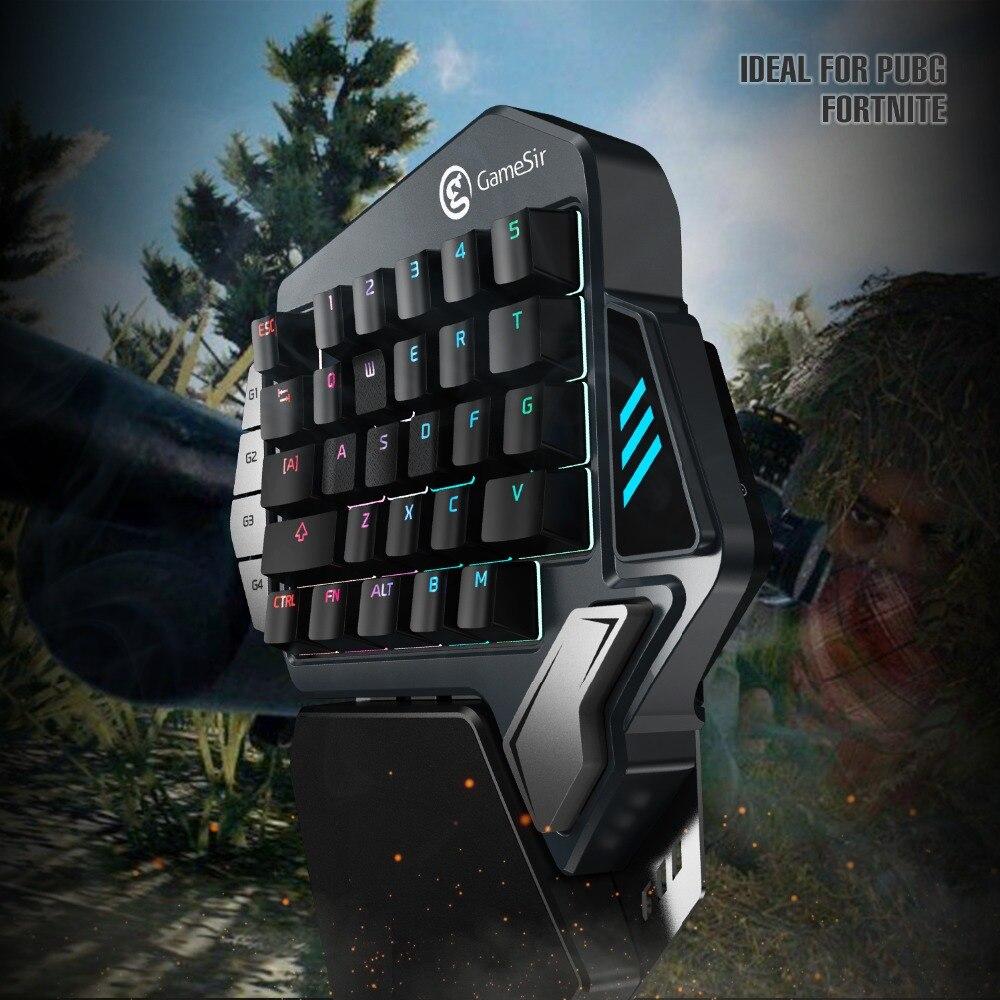 GameSir Z1 Gaming Clavier pour Mobile/PC jeux, AoV, Mobile Légendes, FPS jeux. D'une Seule main Bleu Switchs/Cerise MX Rouge