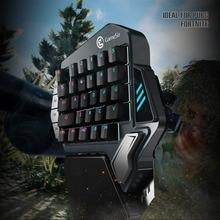 GameSir Z1 de teclado para móvil/juegos de PC AoV Mobile leyendas juegos FPS una mano azul interruptores/ cherry MX rojo
