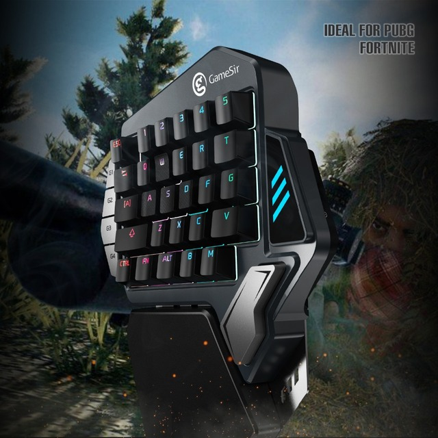 GameSir Z1 Gaming Keypad for Mobile/PC Games  AoV Mobile Legends  FPS Games One-handed Blue Switchs/ Cherry MX Red
