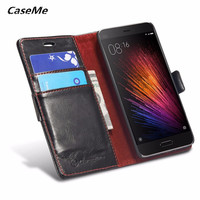 Xiaomi Redmi 4X Case Luxury Leather Flip Phone Bags Slim Wallet Mobile Phone Cover For Xiaomi