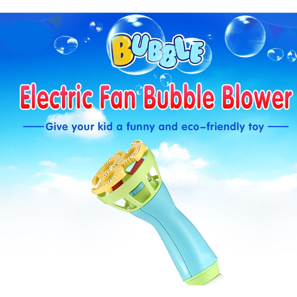 Mini Fan Kids Outdoor Toys Funny Toys Magic Bubble Blower Machine Cute Bubble Maker Antistress Gifts for Children 30S8208