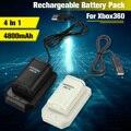Аккумуляторные батарейки 4 в 1  4800 мА · ч  зарядное устройство  Usb кабель  комплект для зарядки для беспроводного контроллера батареи Xbox 360