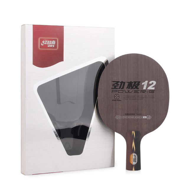DHS POWER-G 12 (PG12, with Original Box) PG 12 (5+2 Glass Carbon) Table Tennis Blade Racket Ping Pong Bat Paddle