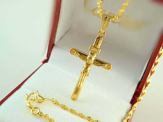 Africa real 24k yellow gold plated necklace blacks women men luxury africa real 24k yellow gold plated necklace blacks women men luxury jesus cross pendant twisted rope mozeypictures Image collections