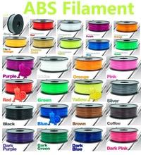 30 couleur choix abs filament 1 kg 3d imprimante filament CHIMEI matériel abs 1.75 3d en plastique filament haute qualité filamento abs