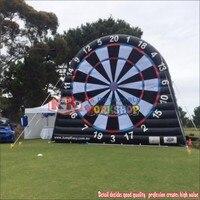 Outdoor Party Sport Equipment Inflatable Football Soccer Dart Board, New Design Kick Darts
