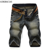 AIRGRACIAS 2017 New Arrive Shorts Men Jeans Brand Clothing Retro Nostalgia Color Denim Bermuda Short For