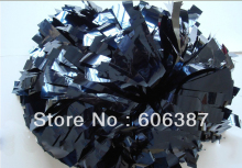 cheerleading Pom poms 3/4″x 6″~custom color metallic navy blue mini order 10 pieces