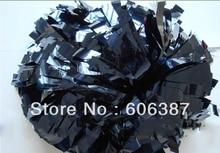 cheerleading Pom poms 3/4″x 6″~custom color metallic navy blue mini order 10 pieces