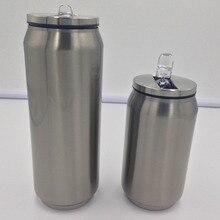 Doppelwandige Edelstahl-thermoskanne Termos Glaskolben Becher Wiederverwendbare Kaffeetasse mit Deckel und Strohhalm Garrafa Termica Inox Getränke Termo können