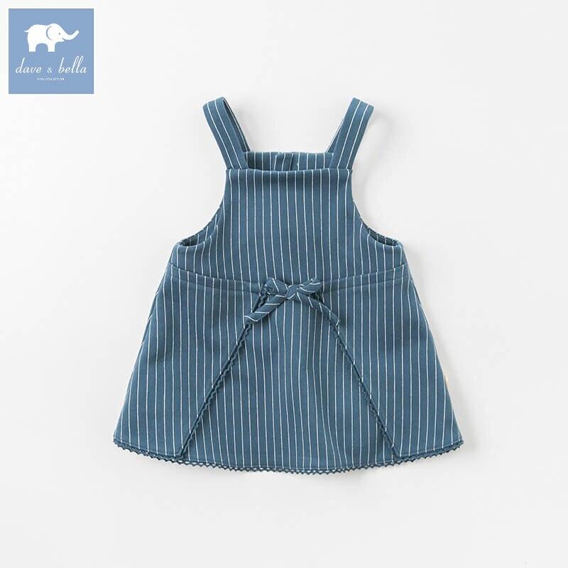 DBA8020 dave bella autumn infant baby girl's strap dress kids birthday party suspenders dress toddler children clothes