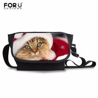 FORUDESIGNS Custom Merry Christmas Pattern Women Crossbody Bag Men Small Shoulder Bag Casual Light Messenger Bag
