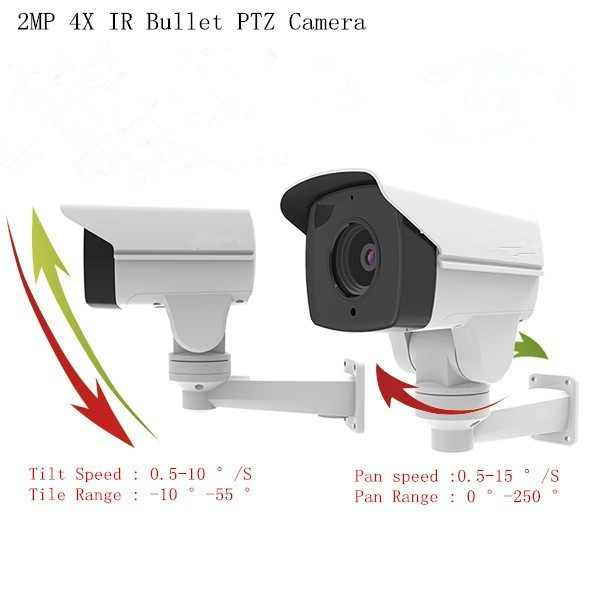 2MP 1080p POE Camera 4xzoom pan tilt CCTV Security IP Camera outside PTZ Alarm ,audio camera
