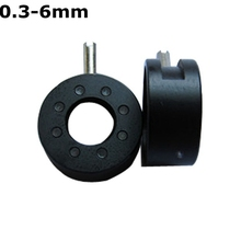 Discount! 0.3-6 mm Amplifying Diameter Zoom Optical Iris Diaphragm Aperture Condenser with 8 Blades for Digital Camera Microscope Adapter