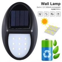 4 Pack/lot 10 LED Solar Wall Light Outdoor Garden Waterproof