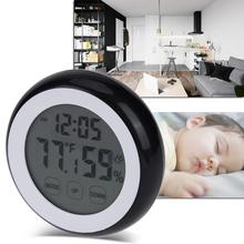 Big discount High-Precision Indoor Digital Temperature Humidity Meter Baby Room Backlight Touch Screen Hygrometer Digital Thermometer