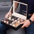 Коробка для часов из кожзаменителя высокого качества  античный держатель для наручных часов  для хранения ювелирных изделий  Organzer przechowywanie bi...