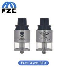 เดิมOBSน้ำค้างแข็งWyrm RTAถังRebuildable RTDA 3.3มิลลิลิตรด้านบนไหลเวียนของอากาศด้าน-บรรจุเครื่องฉีดน้ำบุหรี่อิเล็กทรอนิกส์Vaporizer Clearomizer