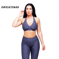 CHRLEISURE Two Pieces Set Women Summer Trend Solid Color Hot Leggings Sleeveless Round Collar Polyester Hip Push sexy Girl