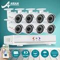 Anran 8ch cctv sistema 720 p hdmi dvr ahd 8 pcs 1800tvl HD Câmera de Segurança Ao Ar Livre Sistema de Vigilância de Vídeo De 8 Canais DVR Kit