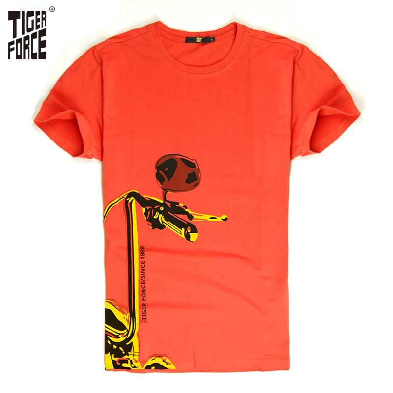 Tiger Force 2018 hombres camiseta moda de alta calidad marca 95% algodón 5%  spandex o-cuello casual envío gratis TF-2038 f60b6cc4aa3