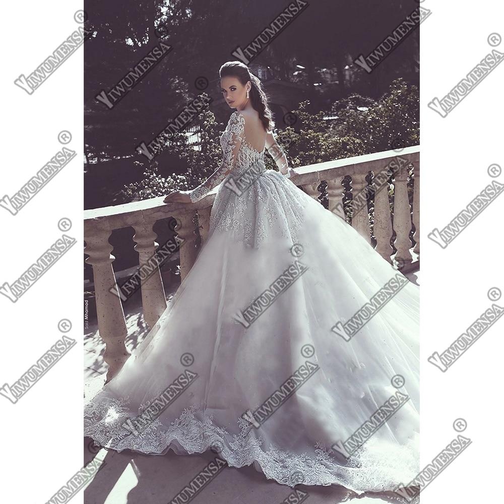 Abiti Da Sposa Mermaid Wedding Dress Plus Size Moved Train Appliques Long Sleeves 2 In 1 Dresses Wedding Gowns Robe De Mariee