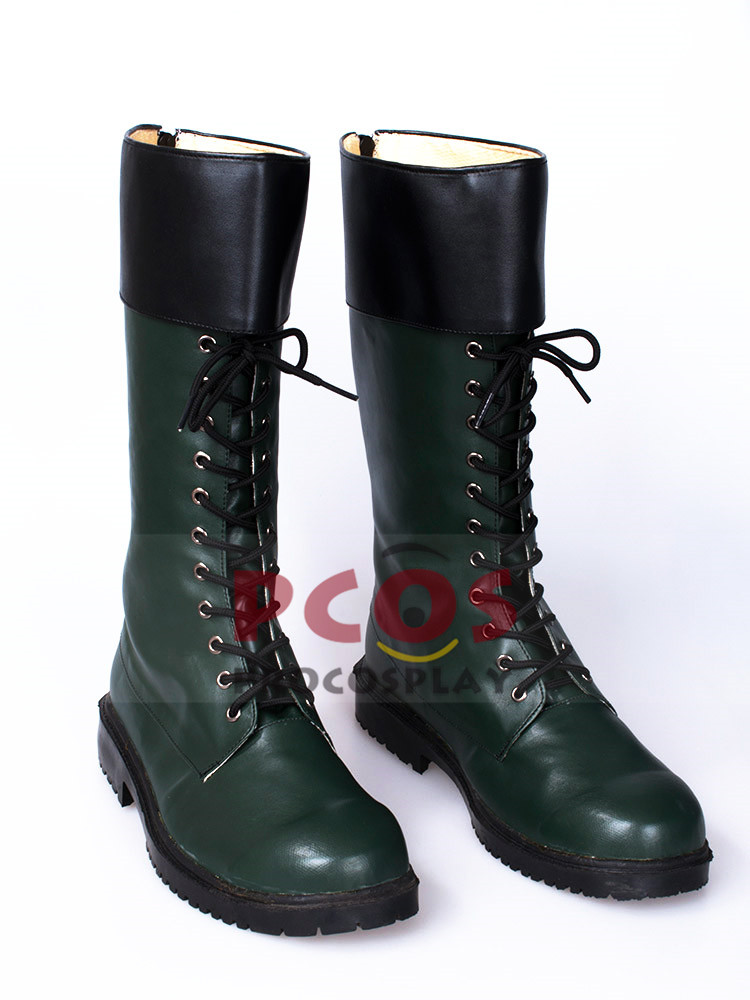 Green Arrow Oliver Queen Cosplay Dark Green Shoes / Boots mp002085