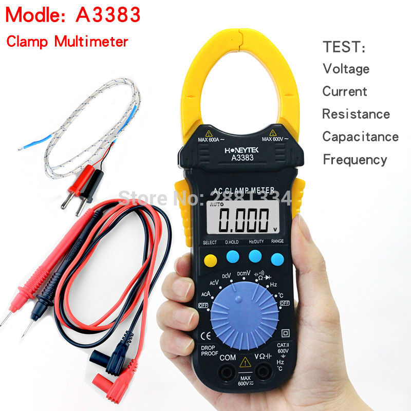 Auto range Clamp Meter Digital Clamp Multimeter 600V Tester Multi Meter Voltage Tester Continuity Diode Test Voltmeter Ammeter mini voltmeter tester digital voltage test battery dc 0 30v red blue green auto car