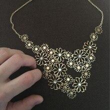 Multilayer Pendants Rhinestone Necklace
