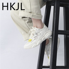 HKJL Fashion Old daddy shoes 2019 new spring edition Korean joker thick bottom small bear sole sports shoe A551