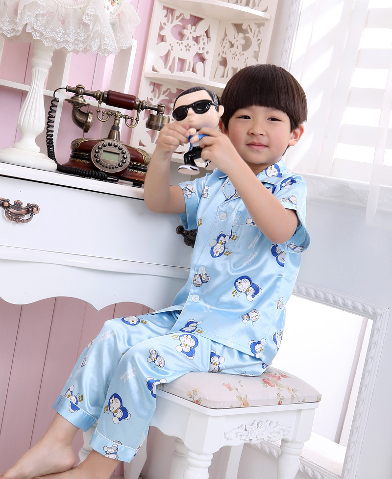Popular Satin Pajamas Kids-Buy Cheap Satin Pajamas Kids lots from ...