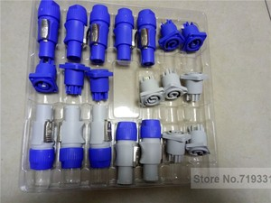 Image 1 - 10sets =5sets blue+5sets gray PowerCON Type A NAC3FCA+NAC3MPA 1 Chassis Plug Panel Connector