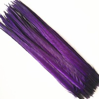 Wholesale 50 55CM Purple Natural Pheasant Tail Feathers Hair Extension Centerpieces For DIY Wedding Decorations Natural Feathes