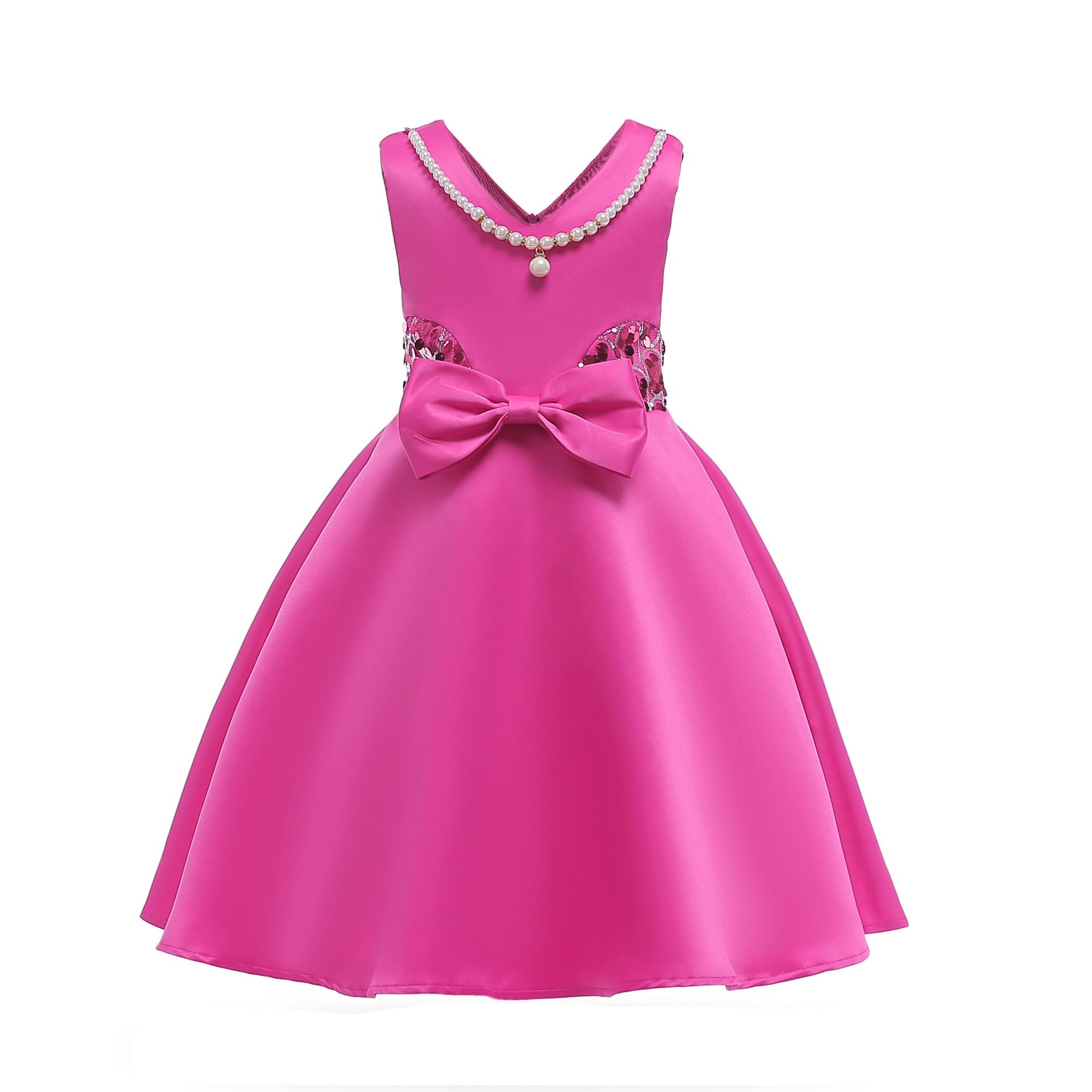 Hibyhoby 2018 nieuwe Boog Baljurk Mouwloze Pailletten jurk Meisjes - Kinderkleding - Foto 3