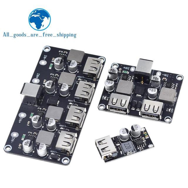 USB QC3.0 QC2.0 USB DC DC понижающий преобразователь зарядный понижающий модуль 6 32 в 9 в 12 В 24 В для быстрой зарядки печатная плата 5 В